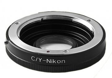 Contax C/Y Adapter voor Nikon F met Glas