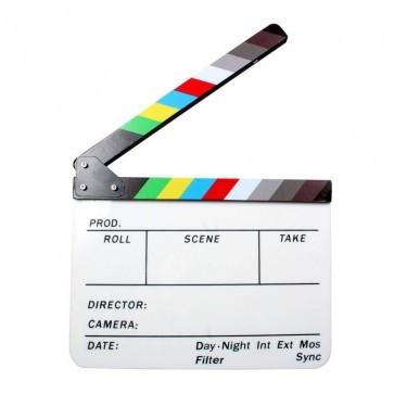 Uitwisbaar clapboard voor video opnames