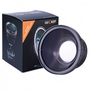 K&F groothoek converter 0.43x met macro mogelijkheid - 58mm