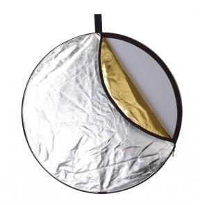 Reflectiescherm 110cm 5 In 1 Zacht Goud Met Goud