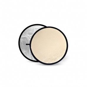 Reflectiescherm 110cm 2 In 1 Zacht Goud Met Zilver