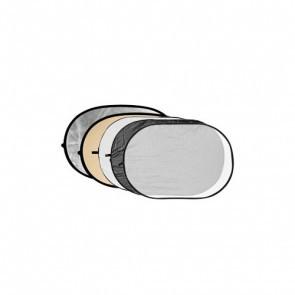 Reflectiescherm 120 X 180cm 5 In 1 Zacht Goud Met Zwart