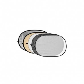 Reflectiescherm 80 X 120cm 5 In 1 Zacht Goud Met Zwart