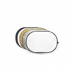 Reflectiescherm 120x180cm 5 In 1 Zacht Goud Met Goud