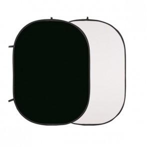 Flexibele Opvouwbare Achtergrond 1.5 x1.95mtr Zwart Wit