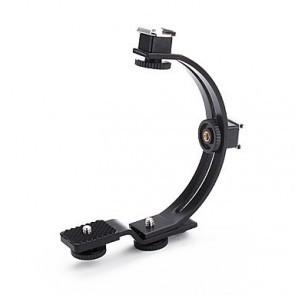 C vorm houder voor flitser / LED lamp / microfoon etc.
