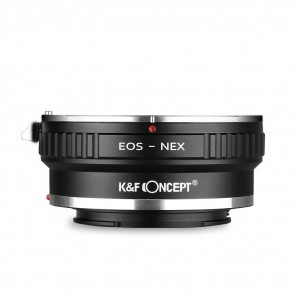 K&F Canon EOS adapter voor Sony E-Mount camera's - statiefbevestiging