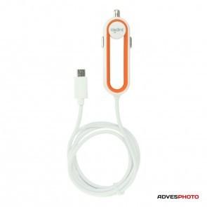Jupio 12v (24v) autolader voor Micro USB - 1 meter