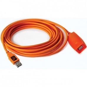 Tetherpro USB 2.0 actieve verlengkabel 9.8 meter oranje