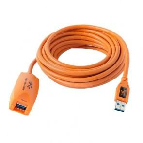 Tetherpro USB 3.0 actieve verlengkabel 4.8 meter oranje