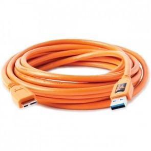 Tetherpro USB 3.0 male naar micro B kabel 4.5meter - oranje