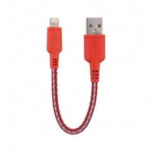 EnerGea Nylotough lightning USB kabel 16cm - Rood