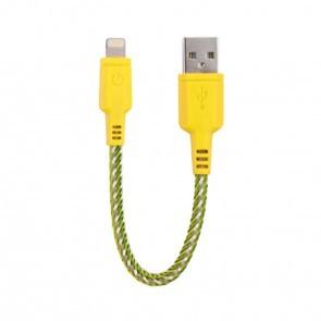 EnerGea Nylotough lightning USB kabel 16cm - Geel