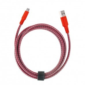 EnerGea Nylotough Charge & Sync kabel USB -> Micro USB, 1.5 mtr - Rood