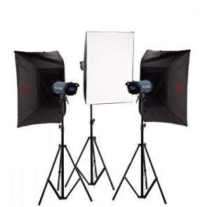 Falcon Eyes Studio flitsset TFK-3600L met LCD scherm