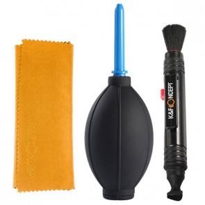 K&F cleaning kit - lenspen, microvezel doek en balg