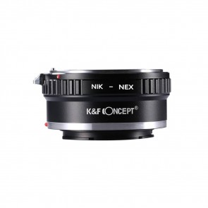 K&F Nikon F mount adapter voor Sony E-mount camera