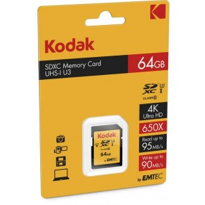 Kodak SDHC 64GB Class 10 U3