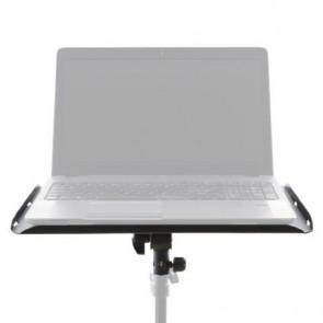 Laptop tafel met spigot bevestiging voor aansluiting op een statief.