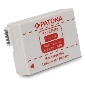 Patona accu Canon LP-E8 compatibel