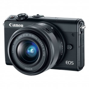 Canon EOS M100 systeemcamera Zwart + 15-45mm IS STM