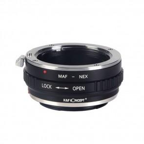 K&F Sony Alpha (Minolta AF) adapter voor Sony E-Mount (NEX) camera's