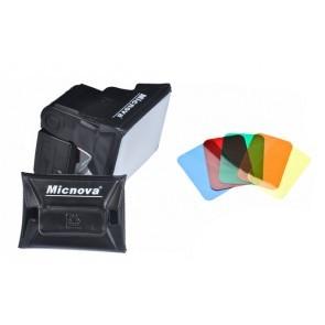 MQ-B6 softbox voor reportageflitser 8 x 11cm met kleurenfilters