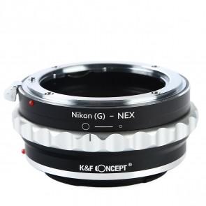 K&F Nikon G (en F) mount adapter voor Sony E-mount camera