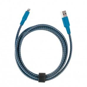 EnerGea Nylotough lightning USB kabel 1.5 meter - Blauw