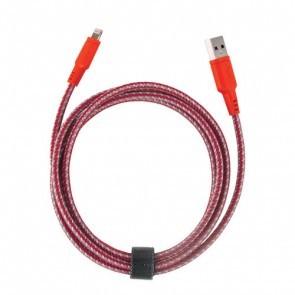EnerGea Nylotough lightning USB kabel 1.5 meter - Rood