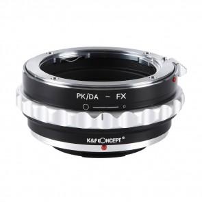 Pentax PK / DA  adapter voor Fuji X mount camera (K&F)