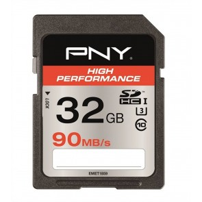 PNY High performace SDHC kaart - 32GB 90MB/s - U3