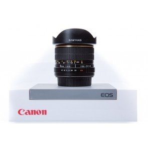 Samyang 8mm f/3.5 CS fisheye voor Canon - Occasion