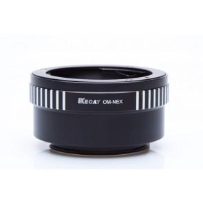 Olympus OM adapter voor Sony E-Mount (NEX) camera's