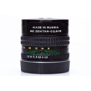 Zenitar MC 16mm f/2.8 Fisheye lens voor Canon - Occasion