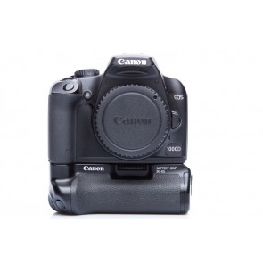 Canon 1000D Occasion incl. batterypack, accu's etc.
