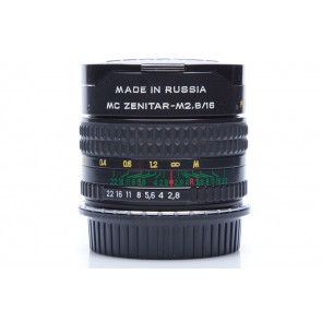 Zenitar MC 16mm f/2.8 Fisheye lens voor Canon - Occasion