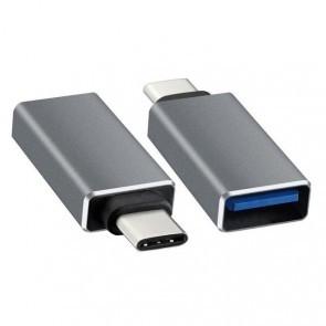 USB naar USB-C adapter - zilver