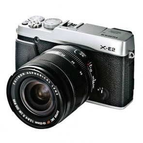Fujifilm X-E2 Systeemcamera zilver- kit met 18-55 lens